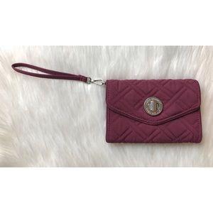 Vera Bradley Solid Maroon Wristlet Wallet